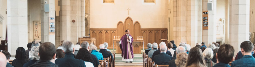 father tom delivers sermon at st bons to parish